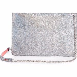 CHRISTIAN LOUBOUTIN Loubiclutch Metallic clutch